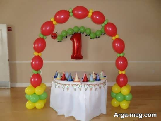 تزیین تولد با تمی ساده و جذاب