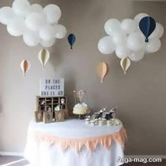 تزیین تولد ساده با تمی زیبا