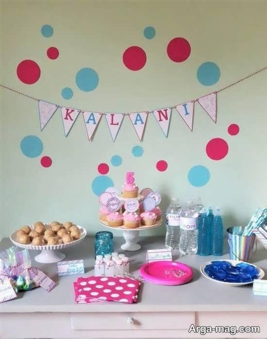 تزیین جشن تولد با تمی خلص و ساده