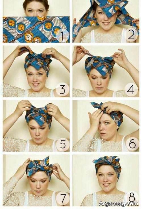 نحوه بستن توربان با روسری