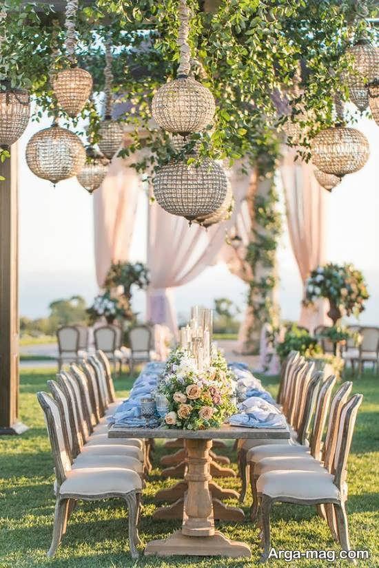 ایده طراحی و تزیینات عروسی در باغ