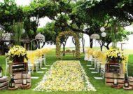جدیدترین دیزاین عروسی در باغ