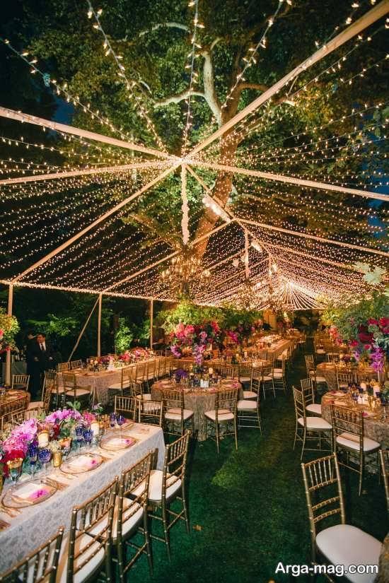 انواع تزیینات عروسی در باغ