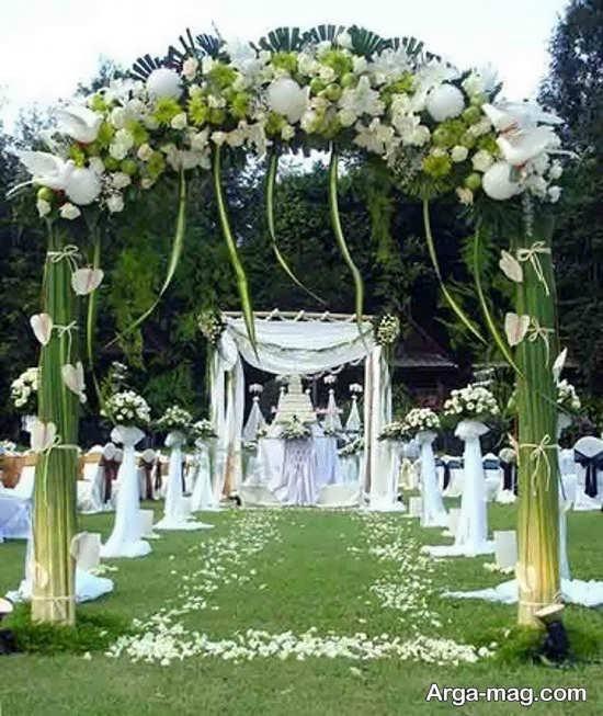 تزیینات متفاوت عروسی در باغ