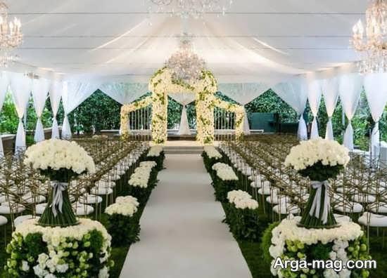 تزیینات جذاب عروسی در باغ