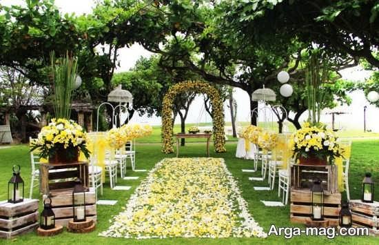 شیک ترین تزیینات عروسی در باغ