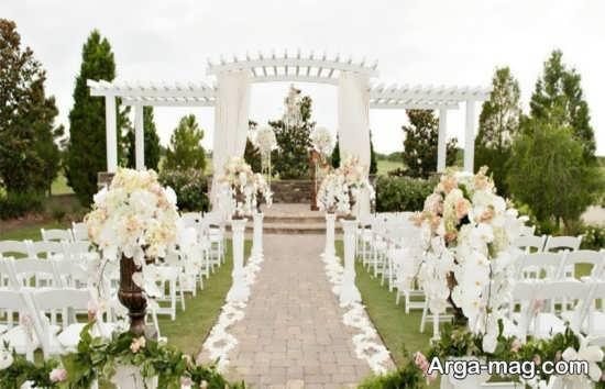 تزیینات جدید برای عروسی در باغ