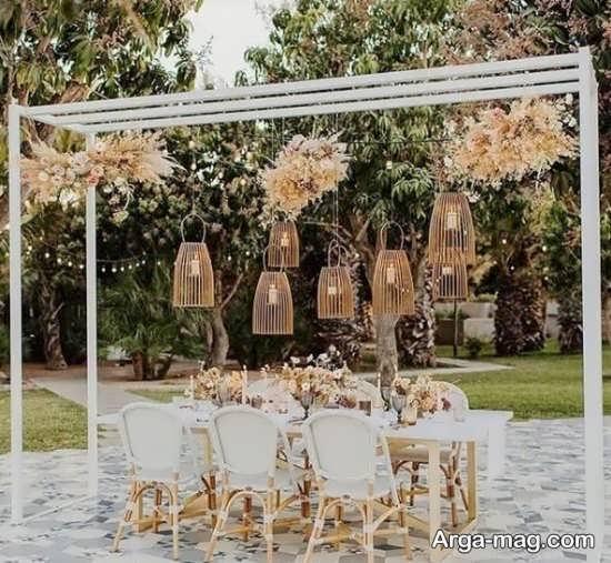 تزیینات زیبا برای باغ عروسی