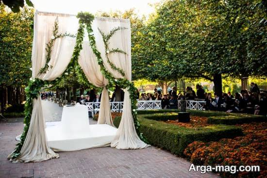 مدل تزیین عروسی در باغ