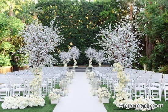 تزیین لوکس عروسی در باغ
