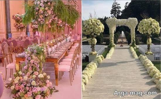 انواع دیزاین عروسی در باغ