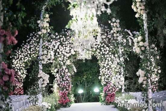 دیزاین لوکس عروسی در باغ