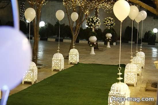 تزیین جدید عروسی در باغ