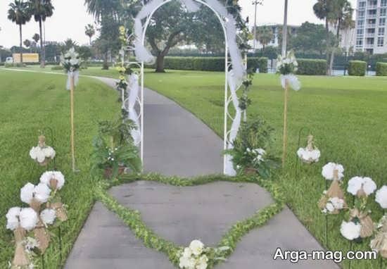 دیزاین عروسی در باغ زیبا