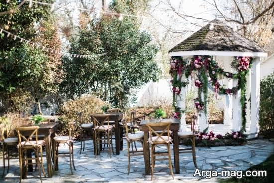 تزیین زیبای عروسی در باغ