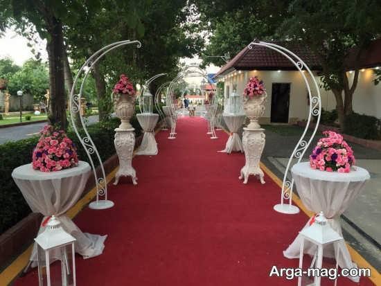تزیین عروسی در باغ