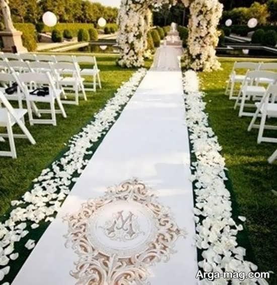 دیزاین متفاوت عروسی در باغ