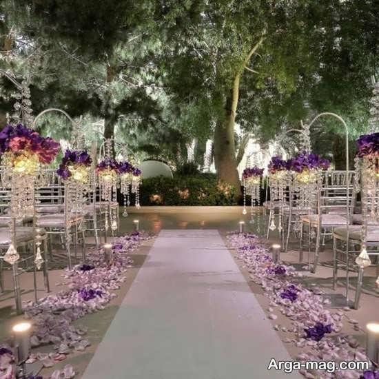 دکوراتیو زیبای عروسی در باغ