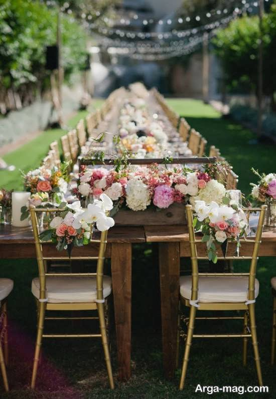 دکوراسیون متفاوت عروسی در باغ