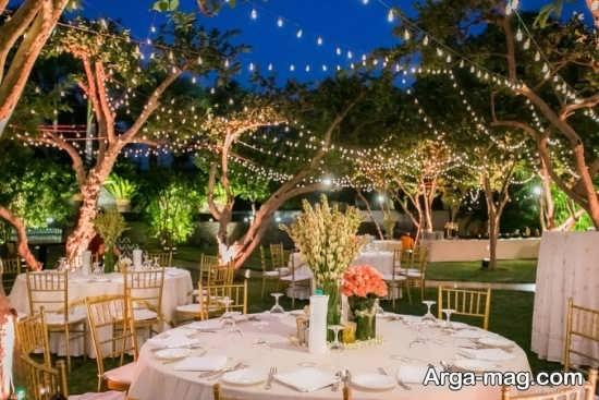 دیزاین جدید عروسی در باغ