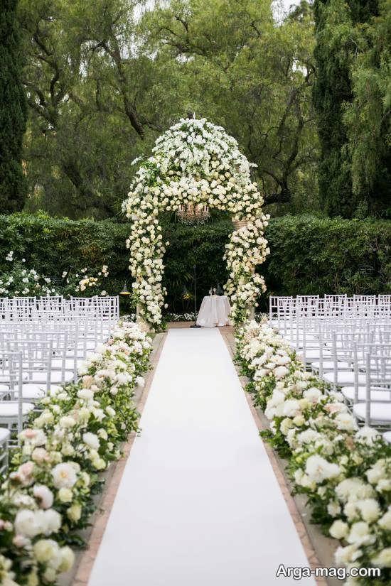مدل تزیینات و طراحی عروسی در باغ
