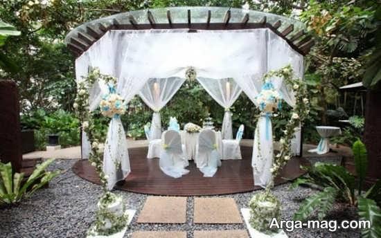 دکوراسیون لوکس عروسی در باغ