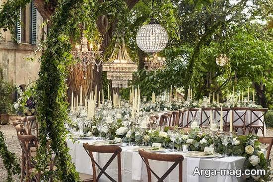 دکوراسیون زیبا عروسی در باغ