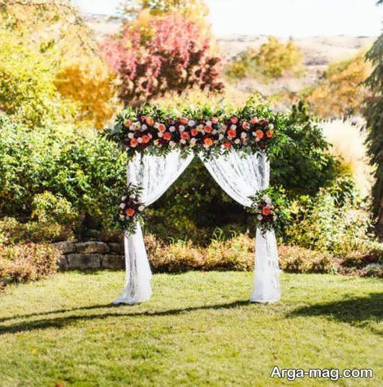 دکوراسیون شیک عروسی در باغ