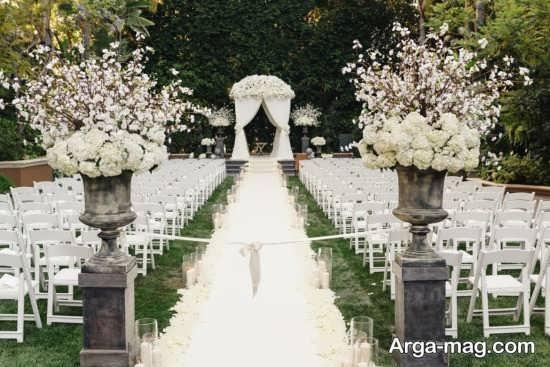 دکوراسیون عروسی در باغ