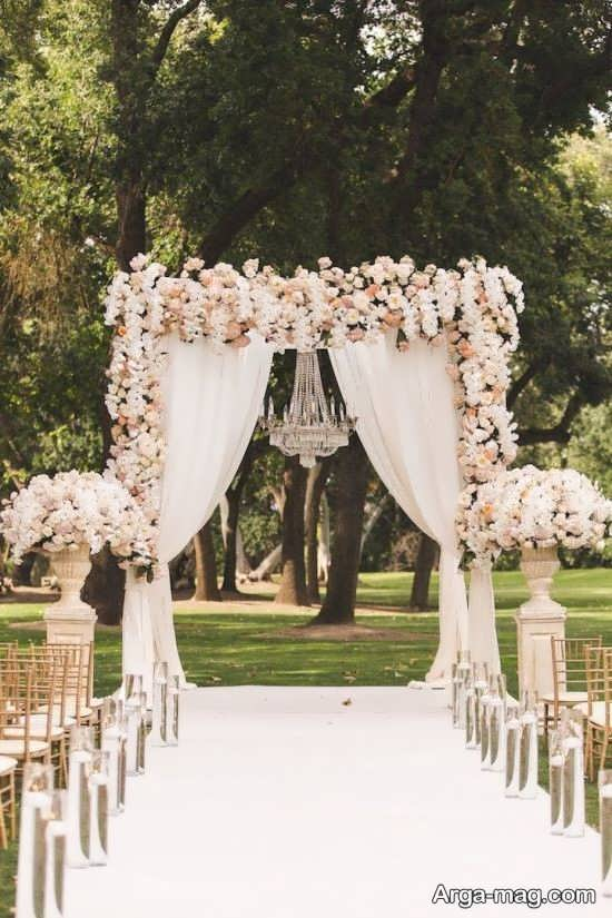 تصاویری از تزیینات عروسی در باغ