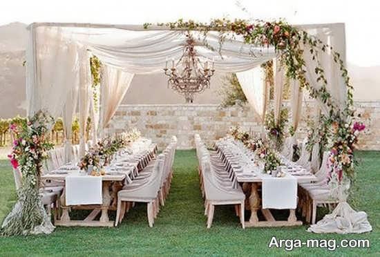 تزیینات جدید و زیبای عروسی در باغ