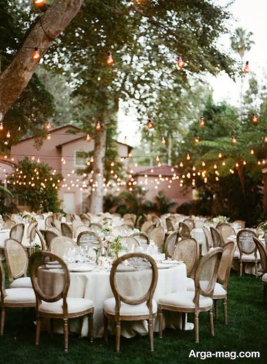 تزیینات لوکس عروسی در باغ