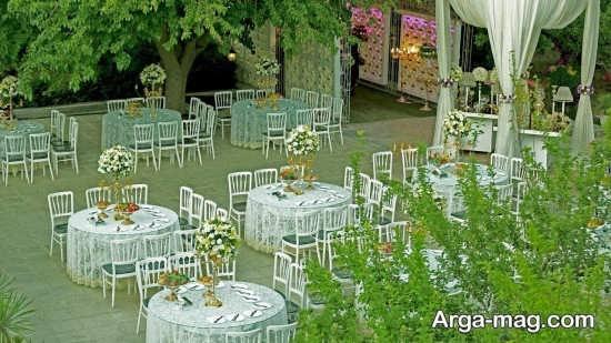 دیزاین شیک عروسی در باغ