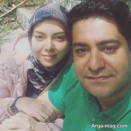 آزاده نامداری بدون آرایش در کنار همسرش