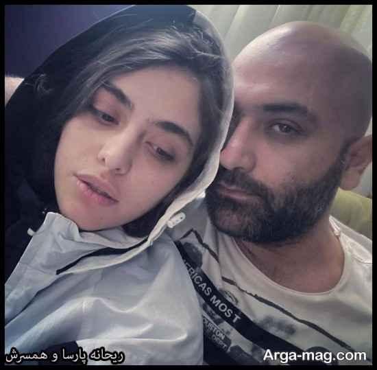 عکس های ریحانه پارسا و همسرش در سال 99