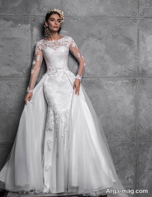 مدل لباس عروس کار شده