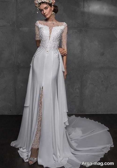 مدل لباس عروس کار شده و خاص
