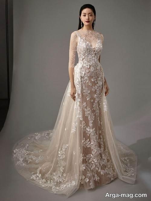 لباس عروس کار شده و خاص
