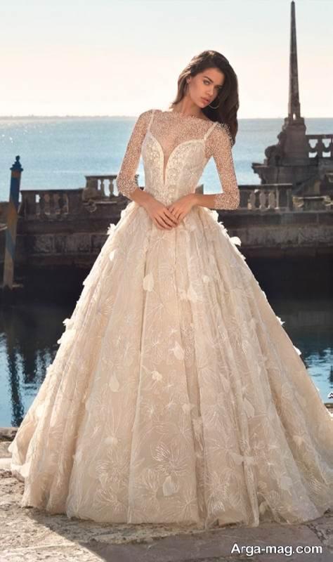 لباس عروس کار شده و جذاب