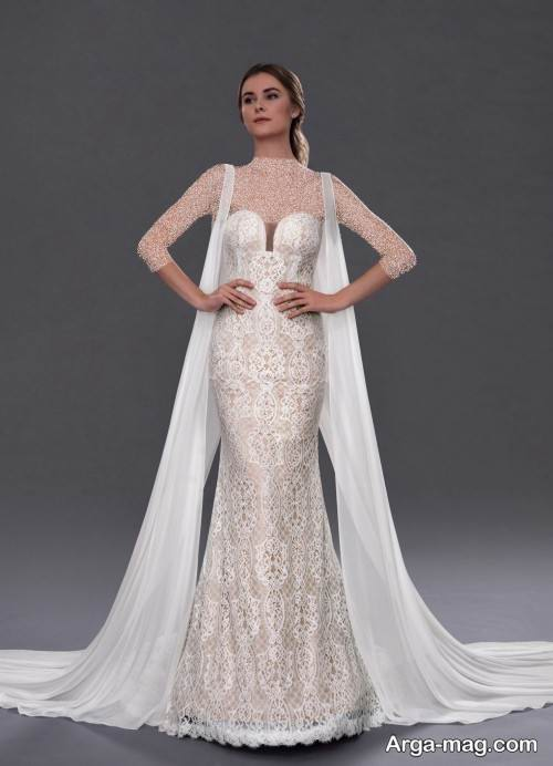 مدل لباس عروس کار شده جدید