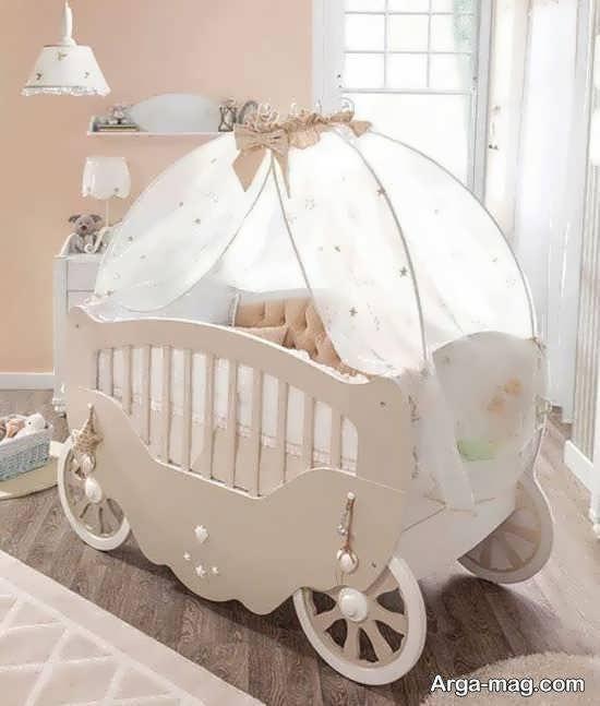 انواع نمونه های زیبای طرح تخت نوزادی