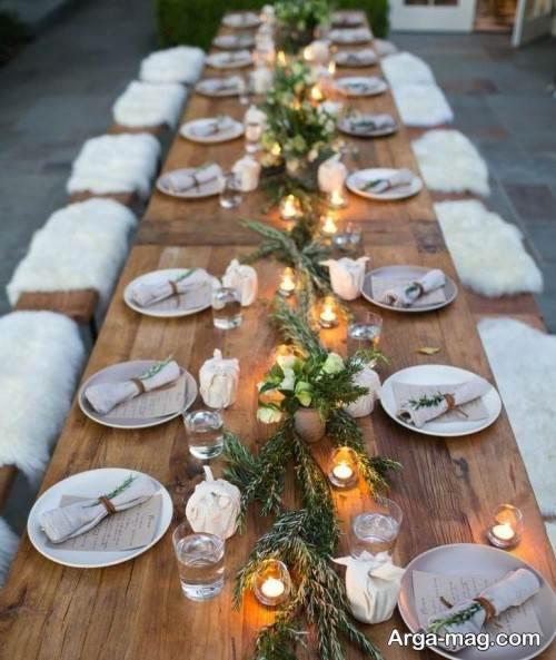 تزیین میز شام برای تولد