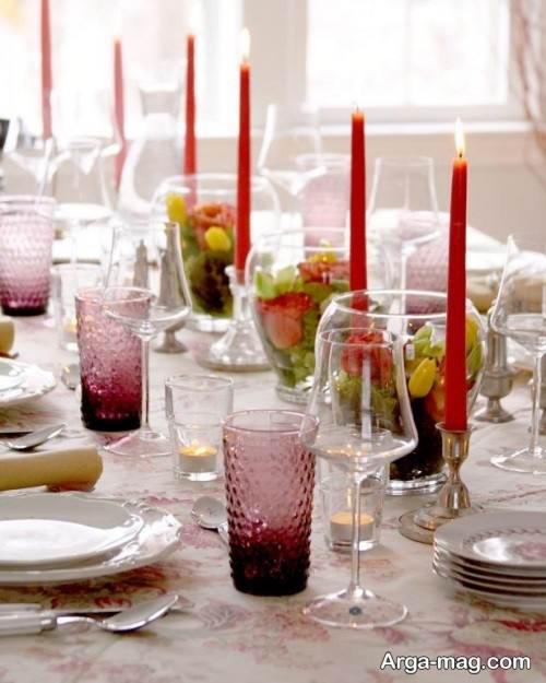 زیباسازی میز شام برای تولد