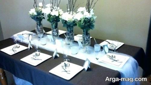 تزیین ساده میز شام برای تولد