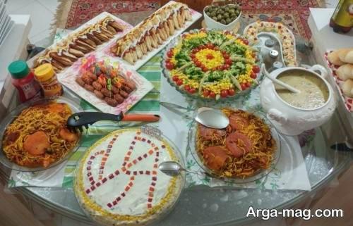 زیباسازی میز شام برای جشن تولد