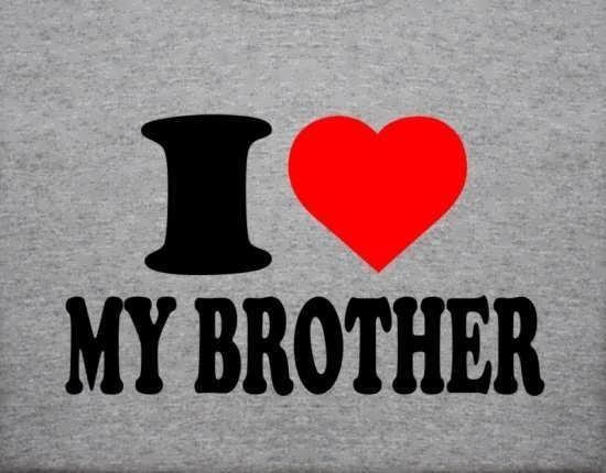 عکس نوشته جالب و عاشقانه برادرانه