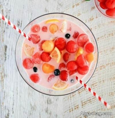 افزودن شیر به دسر هندوانه