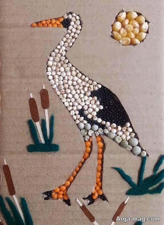 کاردستی پرنده با خلاقیت زیبا و ساده