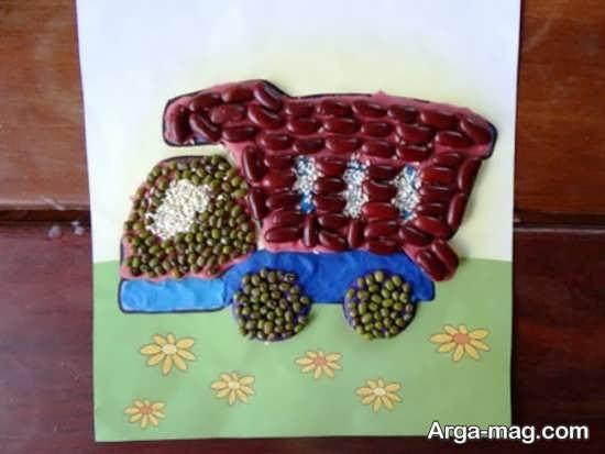 کار دست ساز خلاقانه با حبوبات