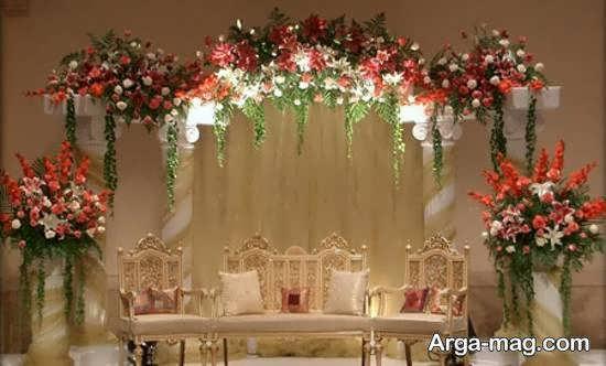 طرح هایی زیبا و لاکچری از تزیین جایگاه مراسم عروسی